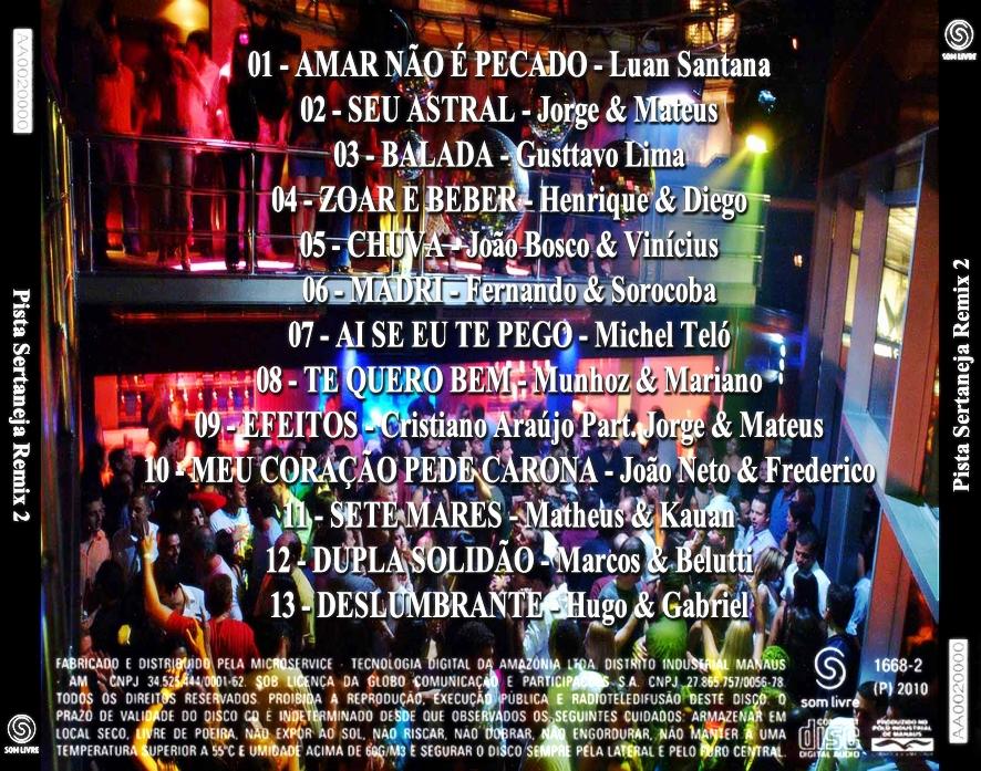 cd pista sertaneja remix 2