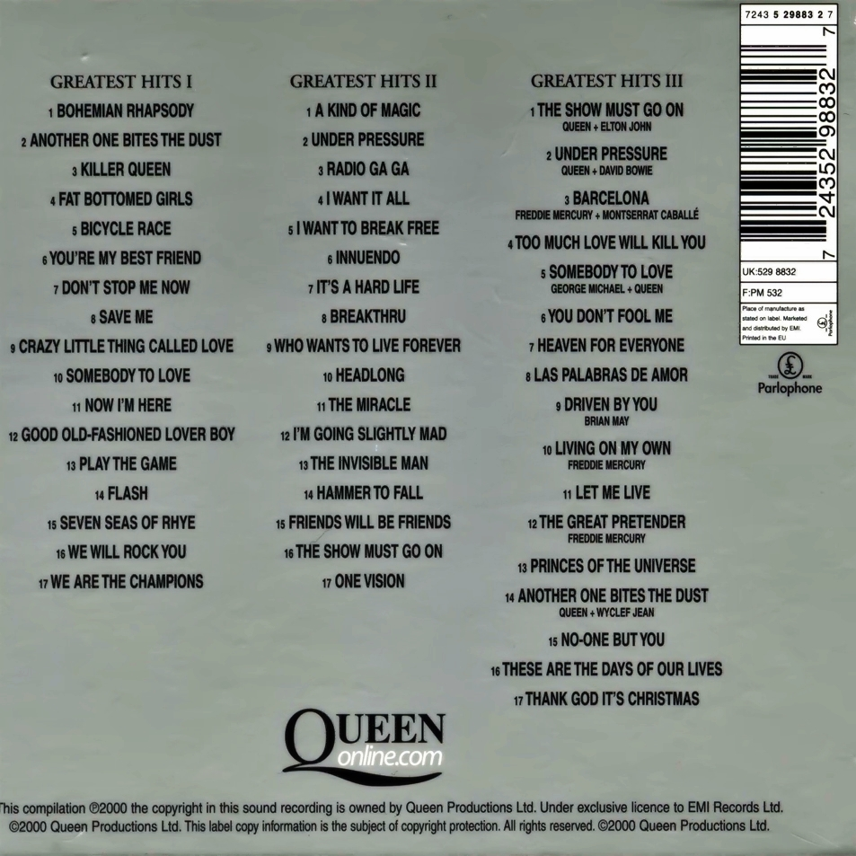 Queen Greatest Hits Platinum Collection